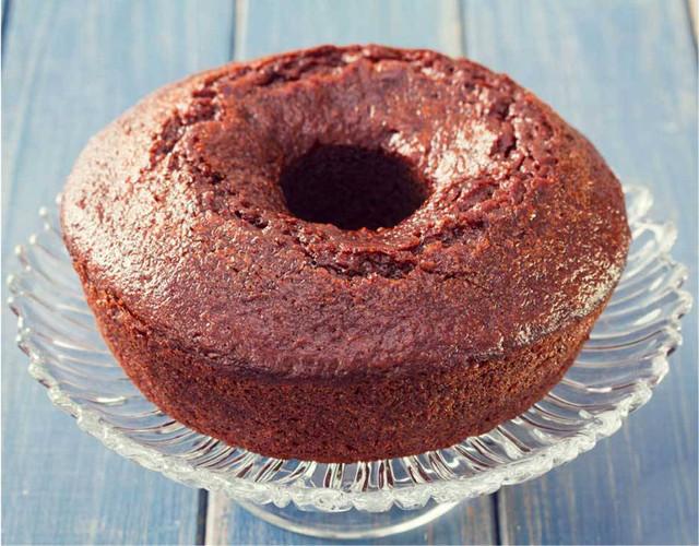 Gâteau à la purée de marrons et au chocolat noir